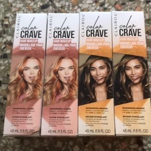 4New Temporary shimmering hair color bronze copper